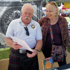 Dale Nicoll telling me about Clan MacNicol