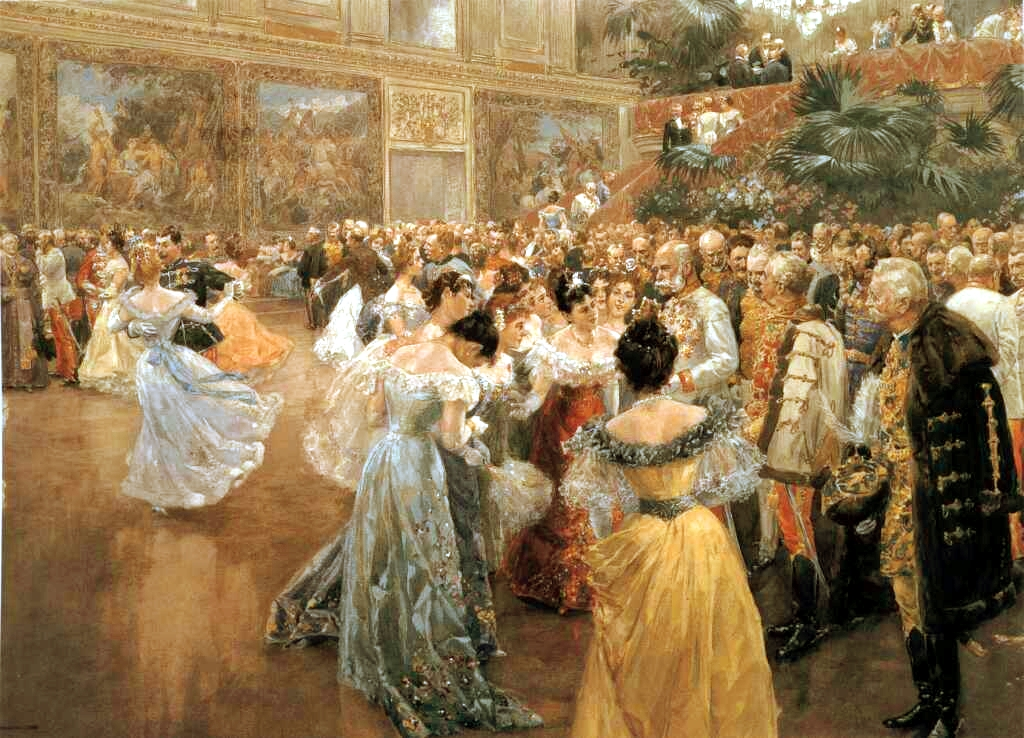 Gilded age ballroom.