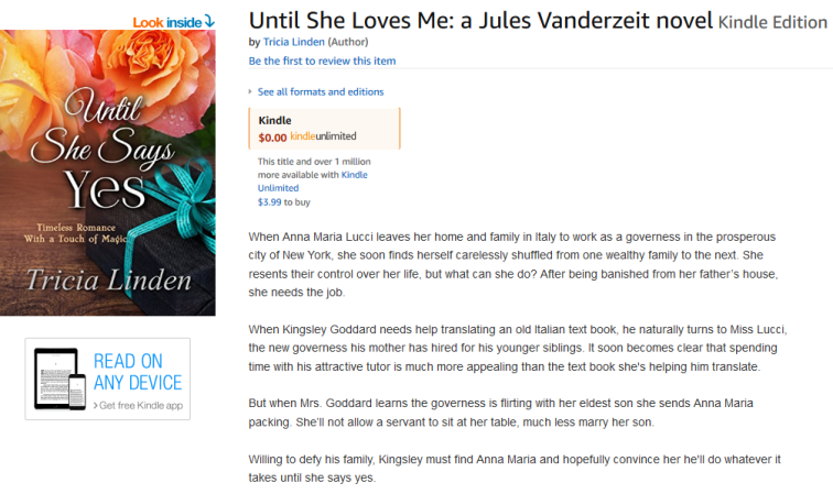Screenshot-2018-3-20 Until She Loves Me a Jules Vanderzeit novel - Kindle edition by Tricia Linden Romance Kindle eBooks Am[...]